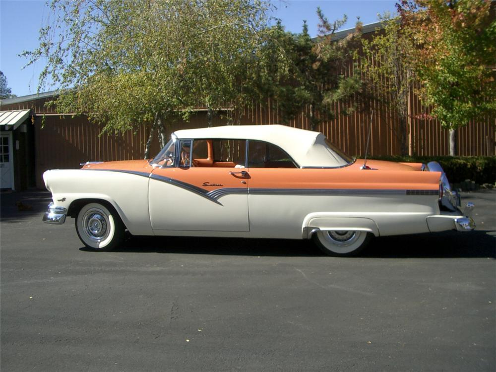 1956 ford sunliner convertible 1956 Ford Crown Victoria Skyliner 1956 ford sunliner convertible side profile 20314