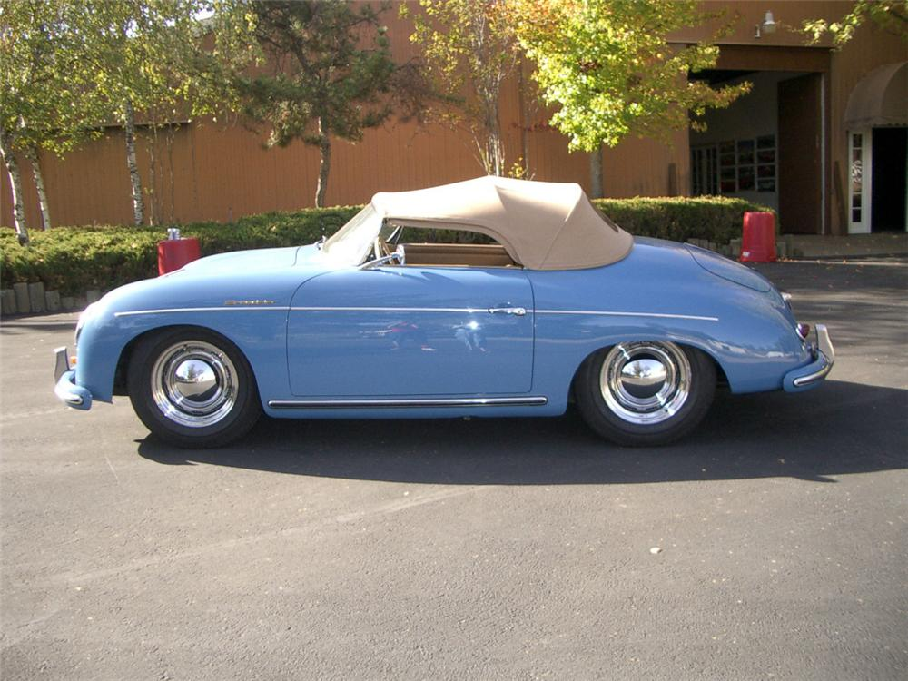 1956 PORSCHE 356A SPEEDSTER CONVERTIBLE - Side Profile - 20315