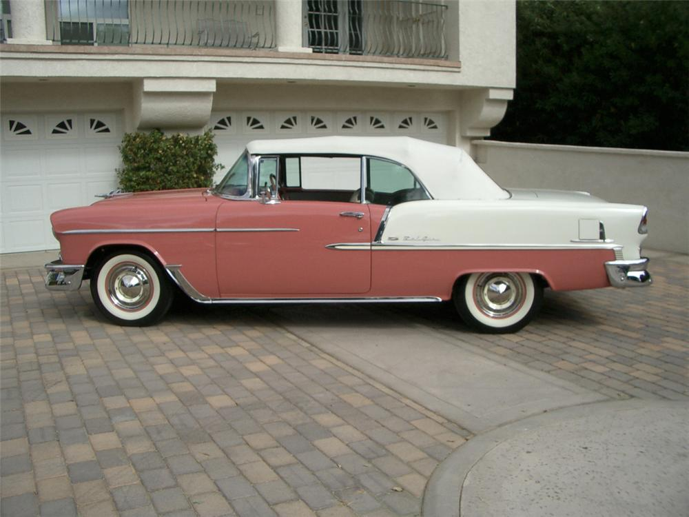 1955 CHEVROLET BEL AIR CONVERTIBLE - Side Profile - 20318