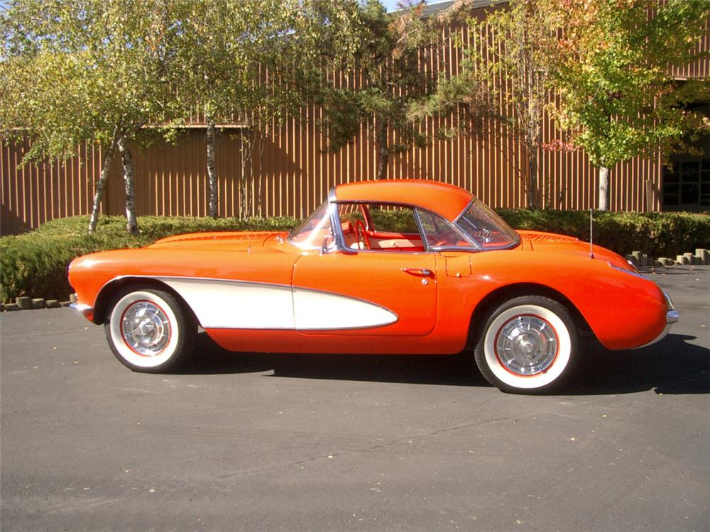 1957 CHEVROLET CORVETTE CONVERTIBLE - Side Profile - 20323