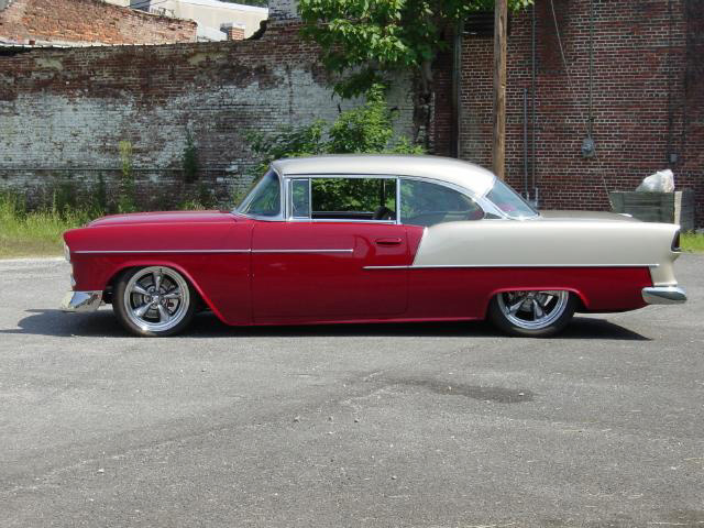 1955 CHEVROLET BEL AIR CUSTOM SPORT COUPE - Side Profile - 20348
