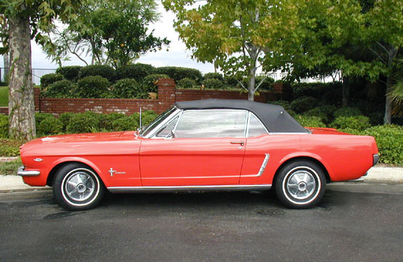 1965 FORD MUSTANG CONVERTIBLE - Side Profile - 20352