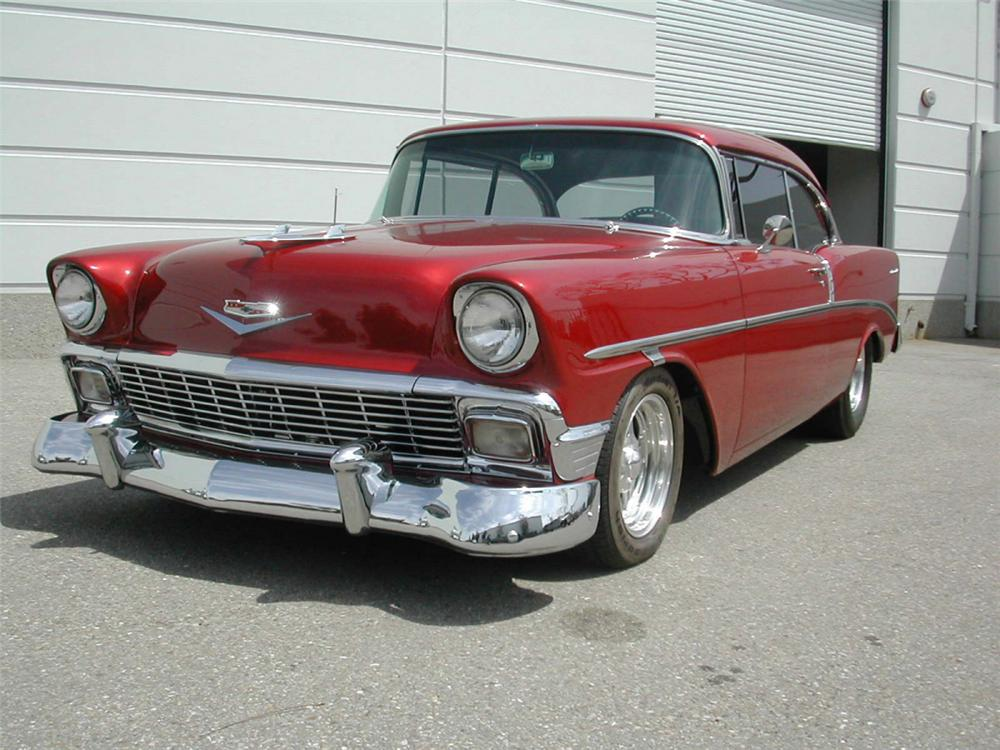 1956 CHEVROLET 210 COUPE - Front 3/4 - 20360