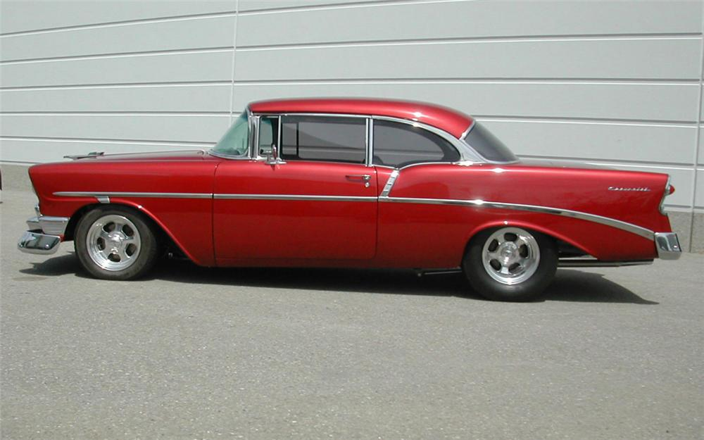 1956 CHEVROLET 210 COUPE - Side Profile - 20360