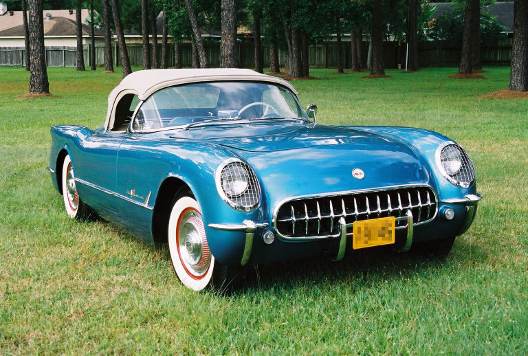 1955 CHEVROLET CORVETTE ROADSTER - Front 3/4 - 20368