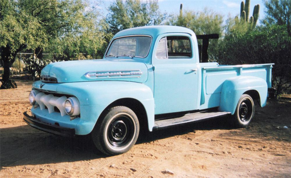 1951 FORD 1RD STEPSIDE PICKUP - Front 3/4 - 20370
