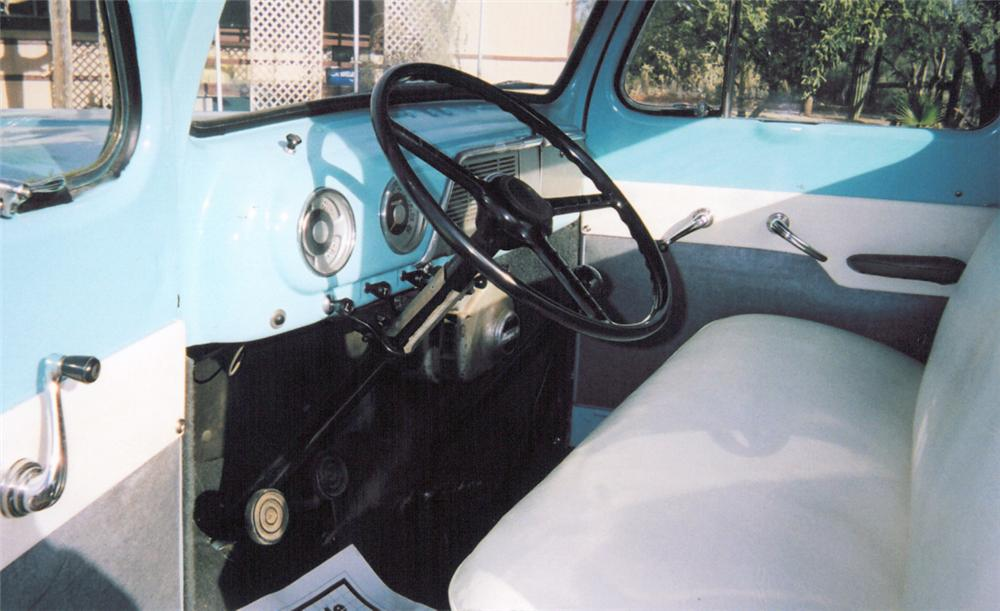 1951 FORD 1RD STEPSIDE PICKUP - Interior - 20370