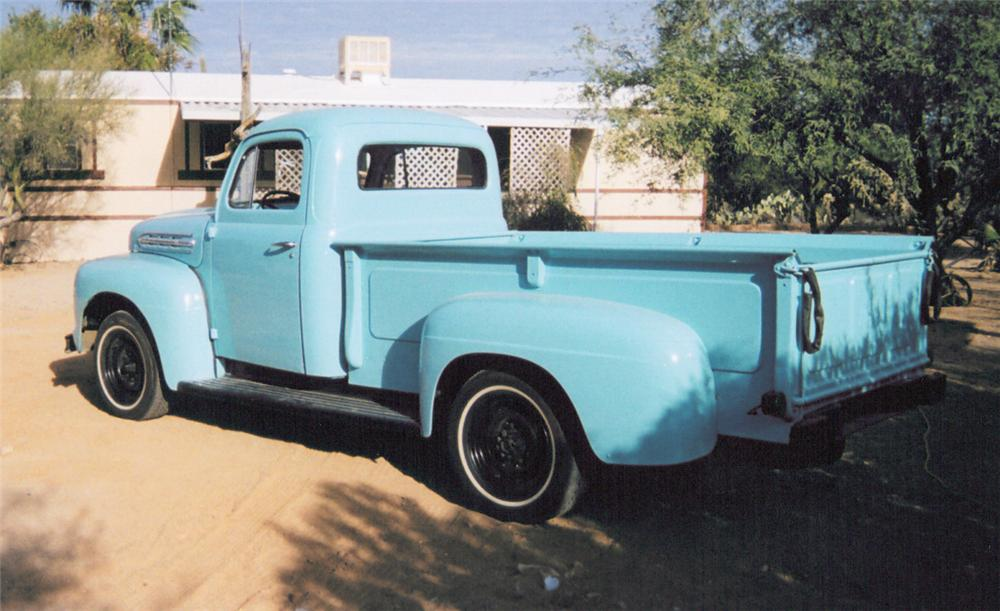 1951 FORD 1RD STEPSIDE PICKUP - Rear 3/4 - 20370