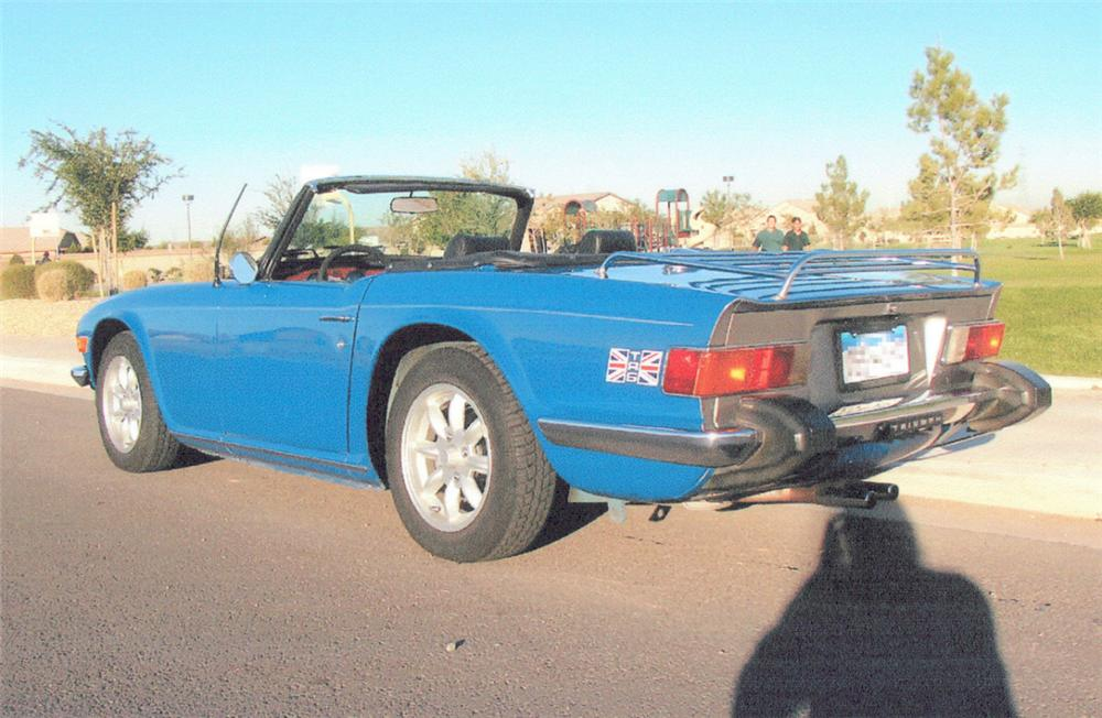 1975 TRIUMPH TR-6 ROADSTER - Rear 3/4 - 20377