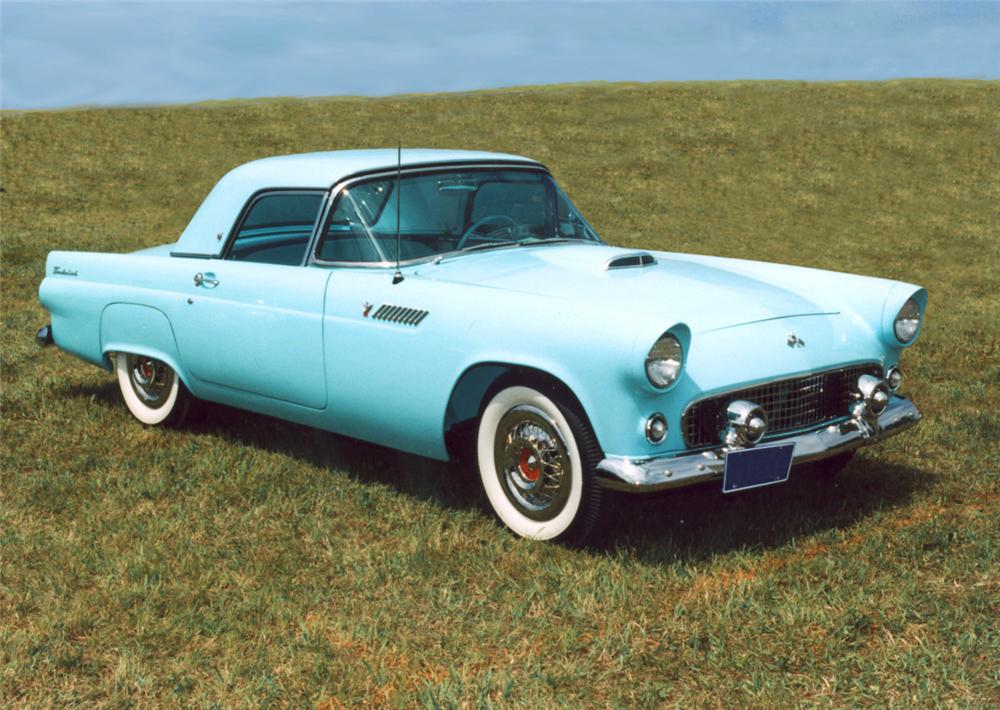 1955 FORD THUNDERBIRD CONVERTIBLE - Front 3/4 - 20394
