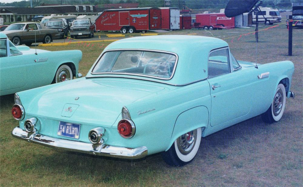 1955 FORD THUNDERBIRD CONVERTIBLE - Rear 3/4 - 20394