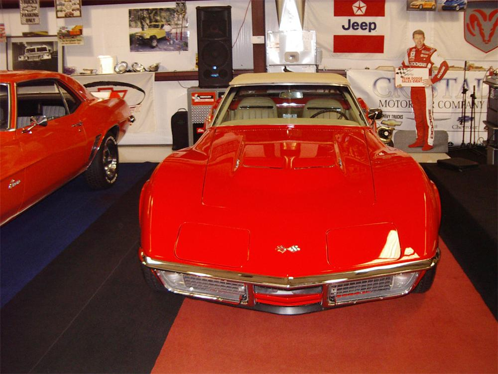 1970 CHEVROLET CORVETTE CONVERTIBLE - Side Profile - 20557