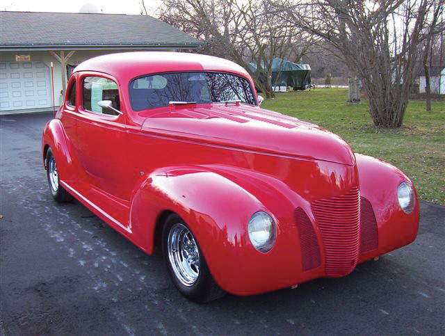 1939 HUDSON COUPE STREET ROD - Front 3/4 - 20564