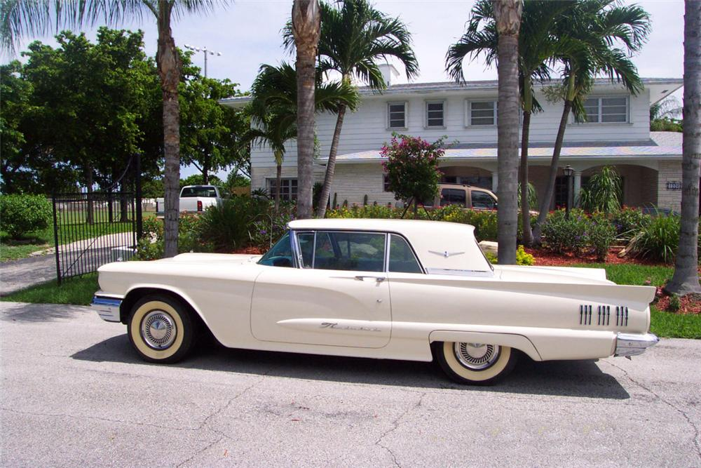1960 FORD THUNDERBIRD 2 DOOR - Side Profile - 20570