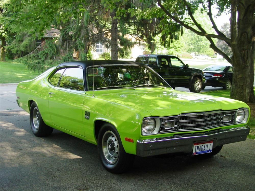 1973 PLYMOUTH DUSTER HEMI COUPE - Side Profile - 20581