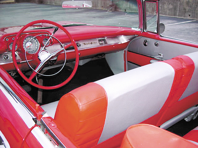 1957 CHEVROLET BEL AIR CONVERTIBLE - Interior - 20590