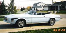 1973 FORD MUSTANG CONVERTIBLE - Side Profile - 20592