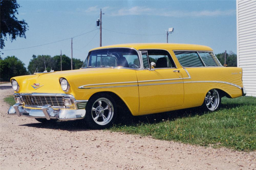 1956 CHEVROLET NOMAD STATION WAGON - Front 3/4 - 20600