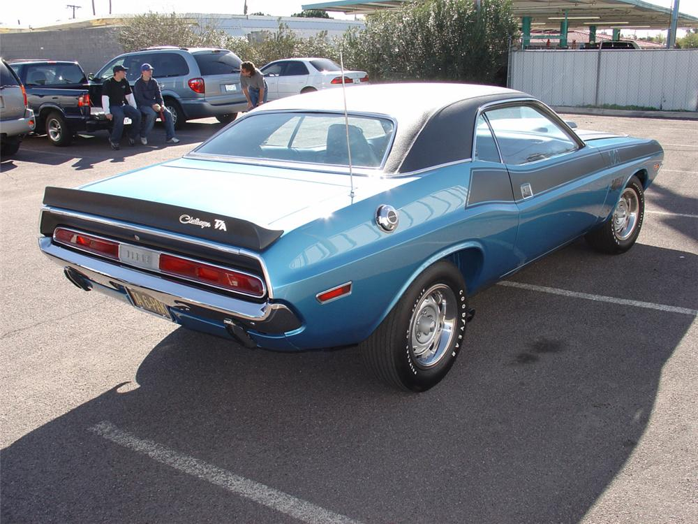 1970 DODGE CHALLENGER T/A 2 DOOR HARDTOP - Rear 3/4 - 20604