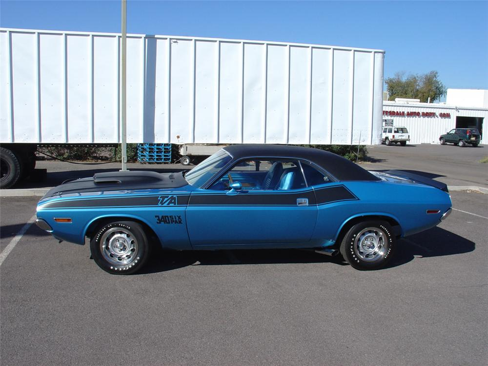 1970 DODGE CHALLENGER T/A 2 DOOR HARDTOP - Side Profile - 20604