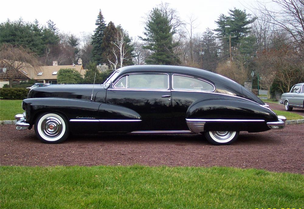 1947 CADILLAC SERIES 62 FASTBACK COUPE - Side Profile - 20640