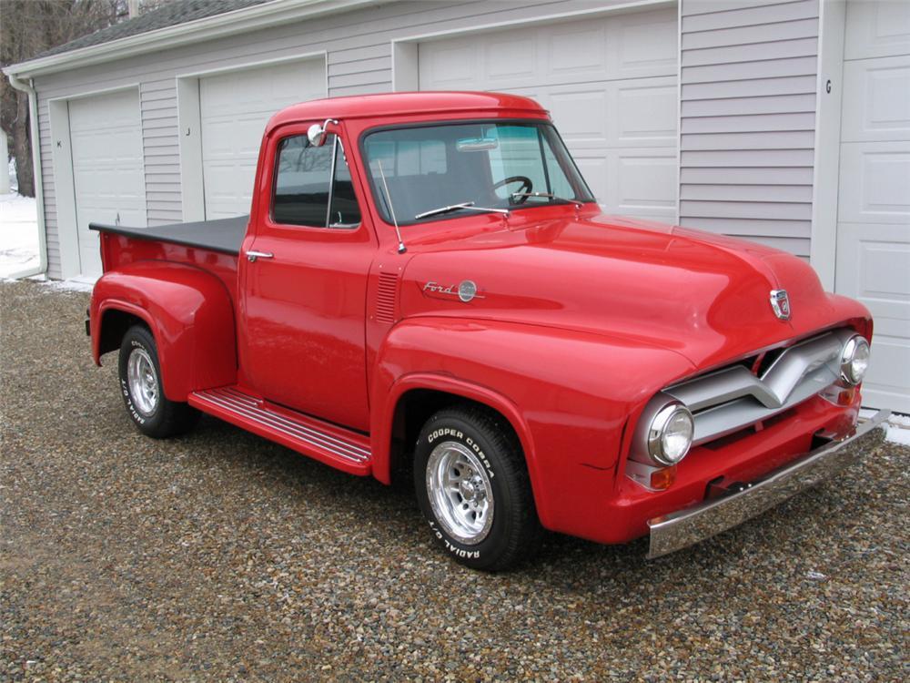 1955 FORD F-100 CUSTOM PICKUP - Front 3/4 - 20642
