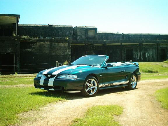 1995 FORD MUSTANG GT CONVERTIBLE - Front 3/4 - 20654