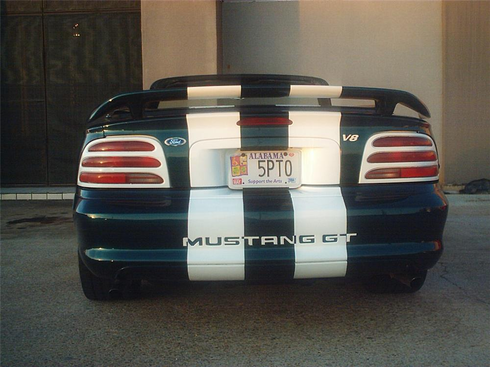 1995 FORD MUSTANG GT CONVERTIBLE - Rear 3/4 - 20654