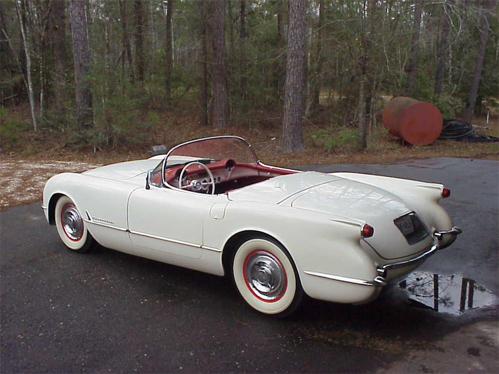 1954 CHEVROLET CORVETTE CONVERTIBLE ROADSTER - Rear 3/4 - 20656