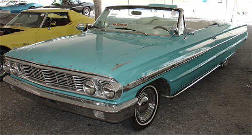 1964 FORD GALAXIE 500 CONVERTIBLE - Front 3/4 - 20663