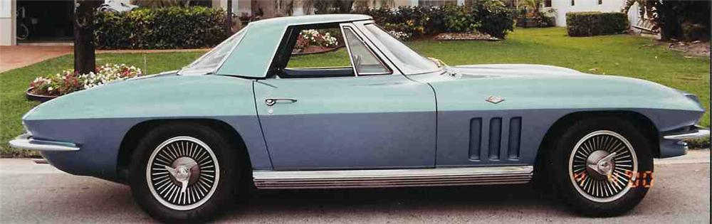 1966 CHEVROLET CORVETTE STINGRAY - Side Profile - 20666