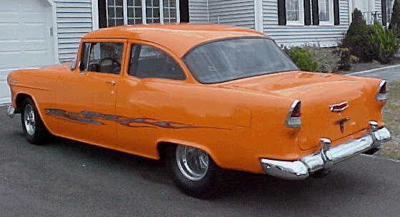 1955 CHEVROLET BEL AIR PRO-STREET - Rear 3/4 - 20678