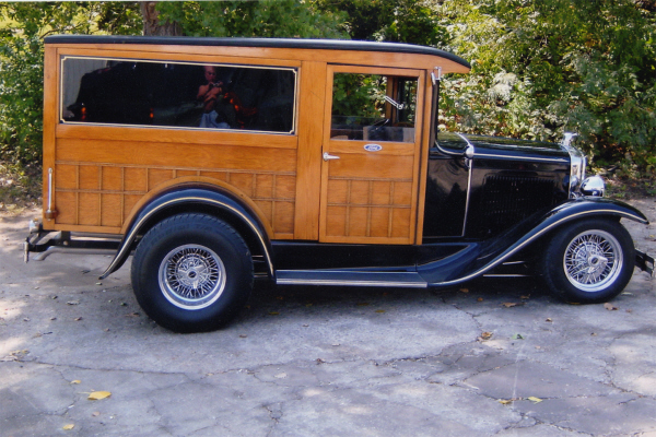 1931 FORD MODEL A CUSTOM WOODY SEDAN DELIVERY - Side Profile - 20686
