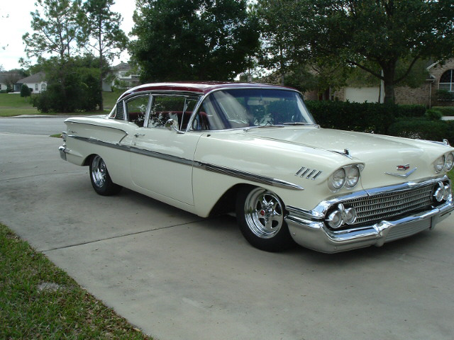 1958 CHEVROLET BEL AIR CUSTOM 2 DOOR - Front 3/4 - 20688