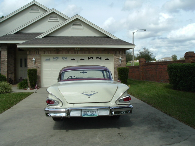 1958 CHEVROLET BEL AIR CUSTOM 2 DOOR - Rear 3/4 - 20688