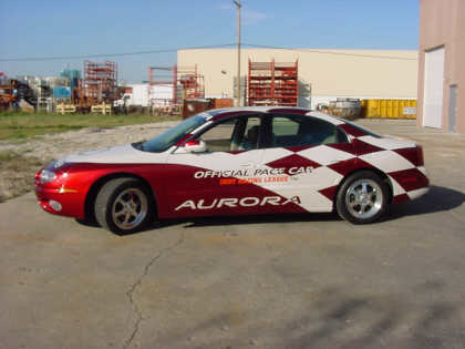 2001 OLDSMOBILE AURORA IRL PACE CAR FROM GM COLL - Front 3/4 - 20695
