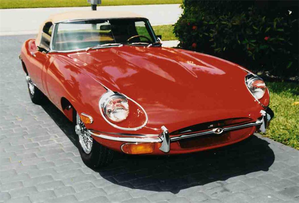 1970 JAGUAR XKE CONVERTIBLE - Side Profile - 20718