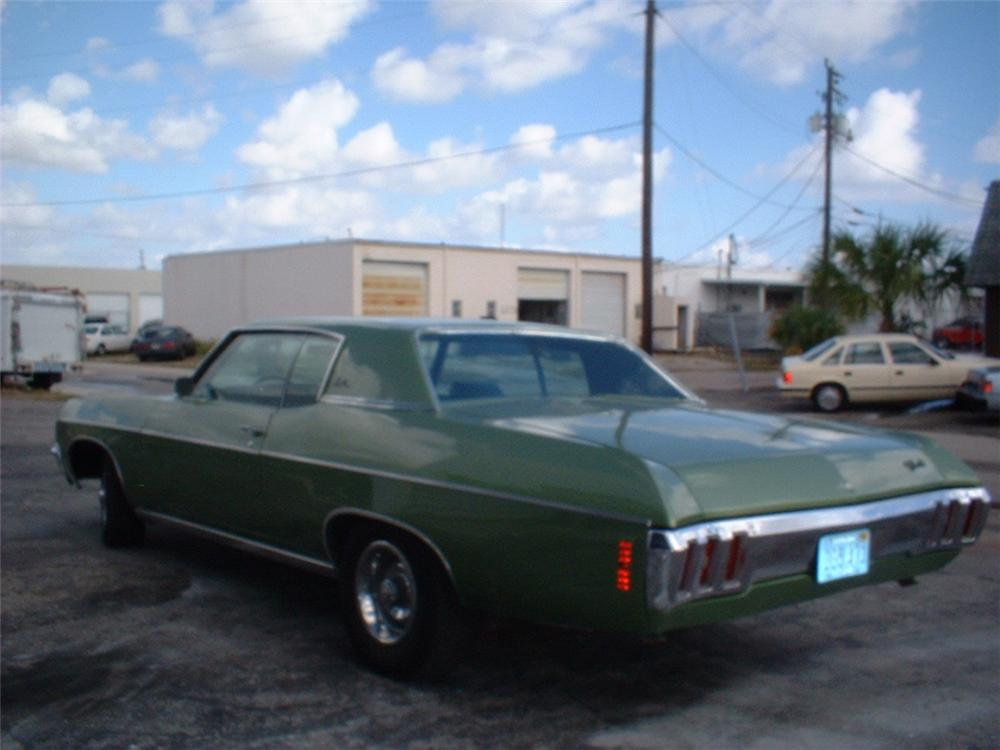 1970 CHEVROLET IMPALA CUSTOM 2 DOOR HARDTOP - Rear 3/4 - 20736