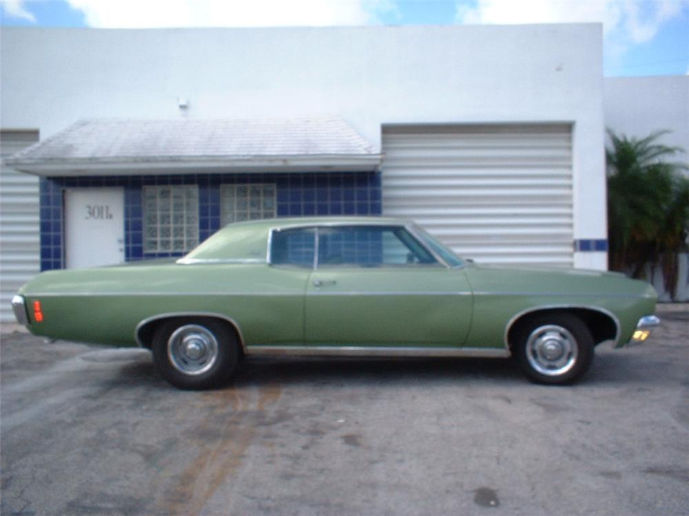 1970 CHEVROLET IMPALA CUSTOM 2 DOOR HARDTOP - Side Profile - 20736