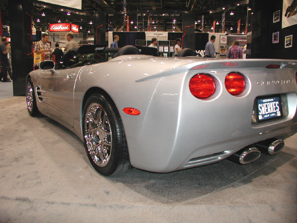 2001 CHEVROLET CORVETTE CUSTOM CONVERTIBLE - Rear 3/4 - 20754