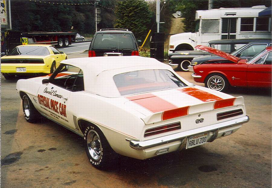 1969 CHEVROLET CAMARO INDY PACE CAR CONVERTIBLE - Rear 3/4 - 20816