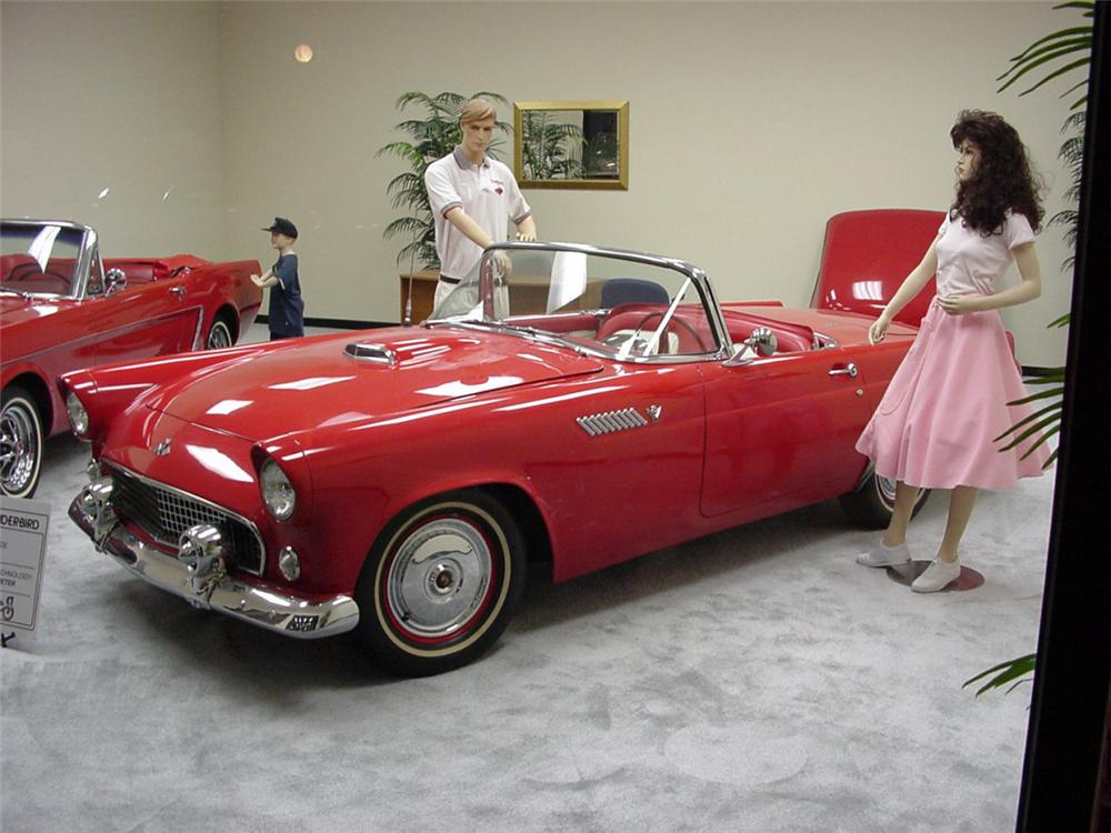 1955 FORD THUNDERBIRD CONVERTIBLE - Side Profile - 20833