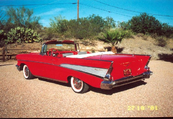 1957 CHEVROLET BEL AIR CONVERTIBLE - Side Profile - 20855