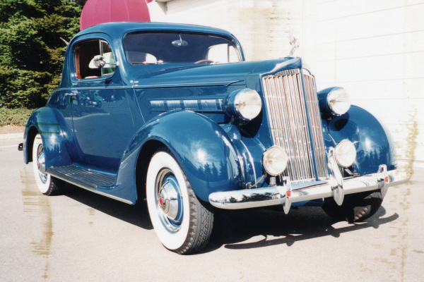1937 PACKARD 115 3-WINDOW COUPE - Front 3/4 - 20890