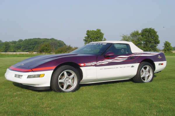 1995 CHEVROLET CORVETTE CONVERTIBLE PACE CAR - Front 3/4 - 20922