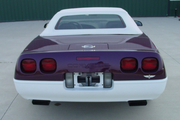 1995 CHEVROLET CORVETTE CONVERTIBLE PACE CAR - Rear 3/4 - 20922