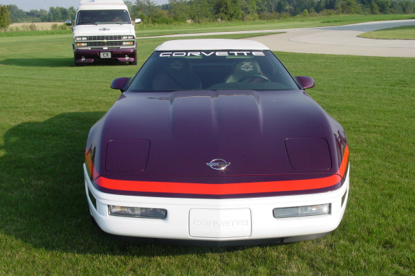1995 CHEVROLET CORVETTE CONVERTIBLE PACE CAR - Side Profile - 20922