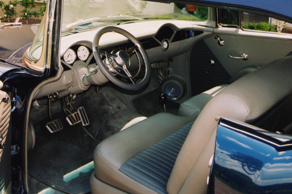 1955 CHEVROLET BEL AIR CONVERTIBLE STREET ROD - Interior - 20954