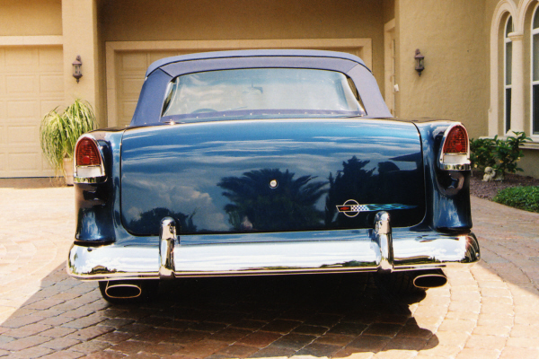 1955 CHEVROLET BEL AIR CONVERTIBLE STREET ROD - Rear 3/4 - 20954