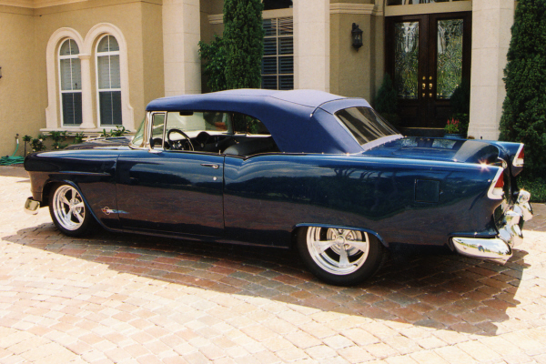 1955 CHEVROLET BEL AIR CONVERTIBLE STREET ROD - Side Profile - 20954